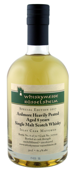 Ardmore Heavily Peated 8 Years, Messeabfüllung Rüsselsheim 2017