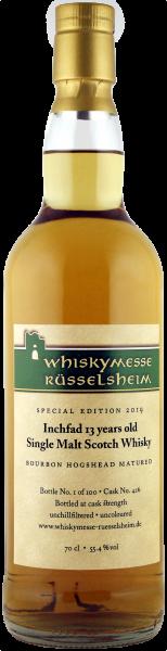 Messewhisky Rüsselsheim 2019 - Inchfad Single Malt Scotch Whisky 13 Years