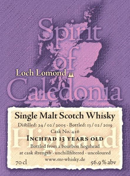 Inchfad Single Malt Scotch Whisky 13 Years - Fassanteil
