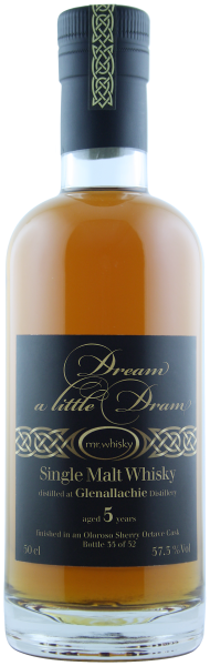 Dream a Little Dram Glenallachie, Oloroso Sherry Octave Finish, 5 Jahre